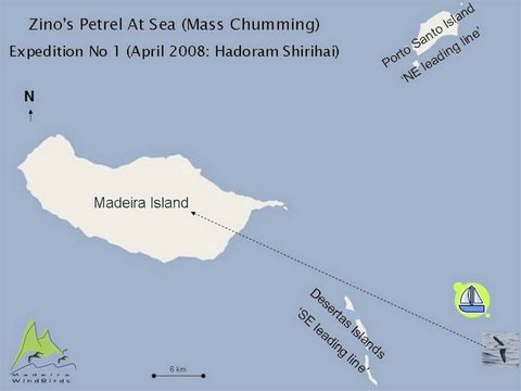 Zino's Petrel expedition chumming map